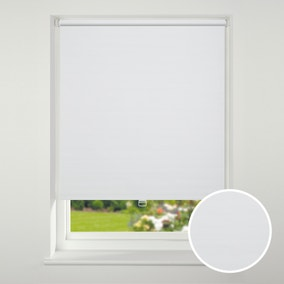 Swish Cordless White Textured Blackout Roller Blind
