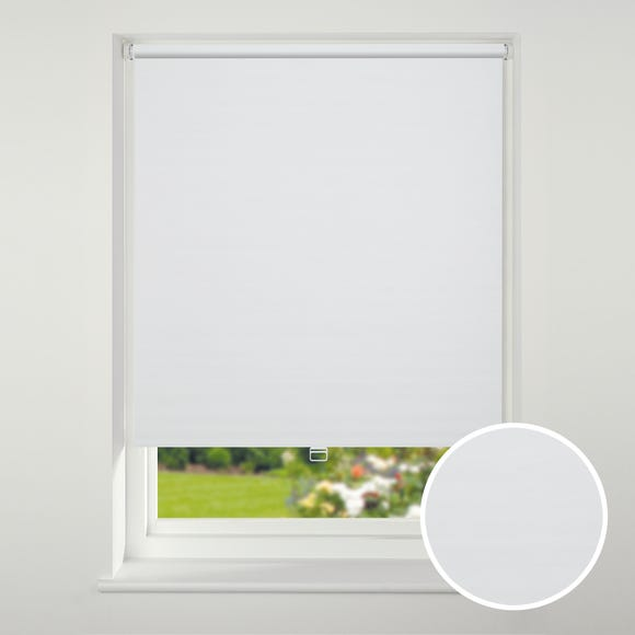 Swish Cordless White Textured Blackout Roller Blind  undefined