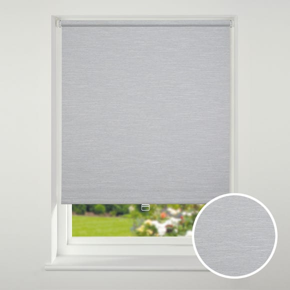 Swish Cordless Grey Textured Blackout Roller Blind  undefined