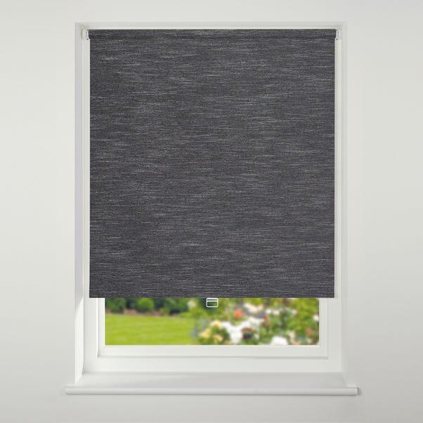 Swish Cordless Black Textured Blackout Roller Blind  undefined