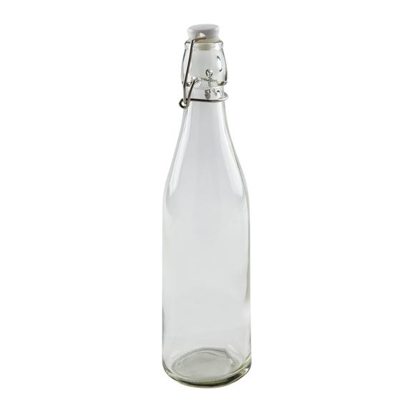 Dunelm 530ml Glass Bottle Clear
