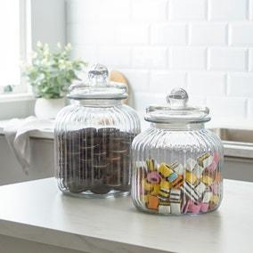 Dunelm Large Vintage Sweet Jar