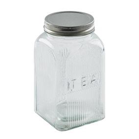 Dunelm Glass Tea Canister