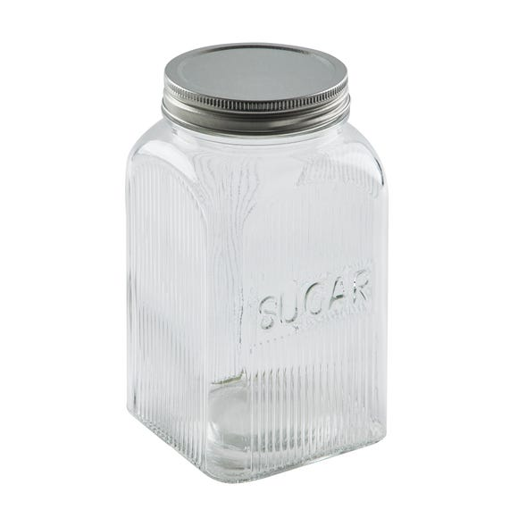 Dunelm Glass Sugar Canister Clear