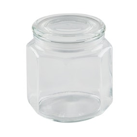 Dunelm 1360ml Glass Jar