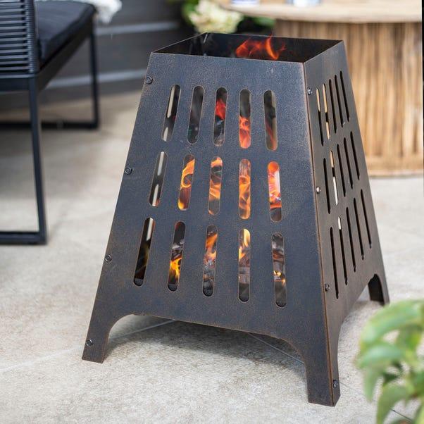 Anubis Steel Firebasket Bronze