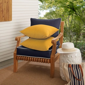 Pack of 2 Ochre Cotton Cushions