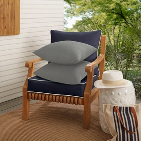 Pack of 2 Soft Grey Cotton Cushions