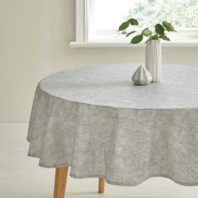 Grey Wipe Clean Tablecloth