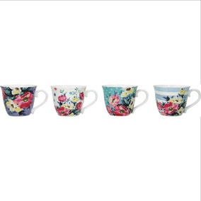 Mikasa Clovelly Set of 4 Espresso Mugs
