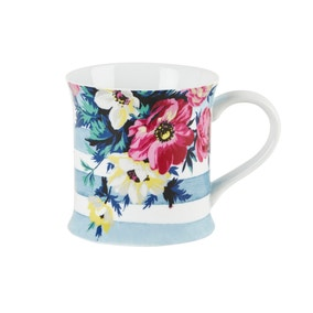 Mikasa Clovelly Floral Striped Mug