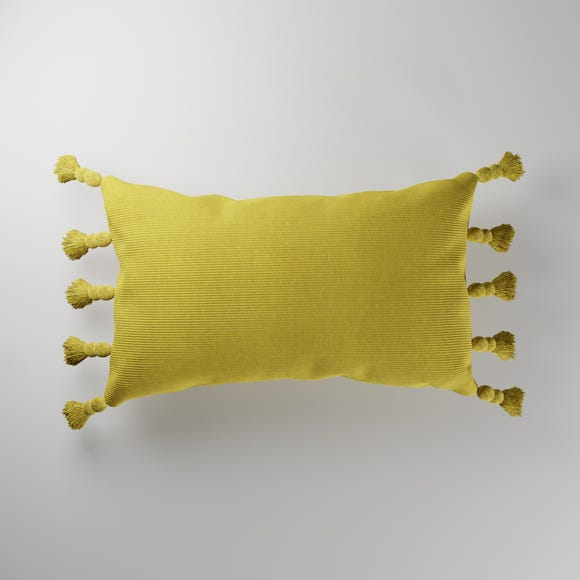 Ribbed Cushion Ochre