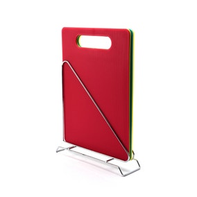 Dunelm 4 Piece Cutting Board with Holder