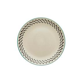 Global Teal Dinner Plate