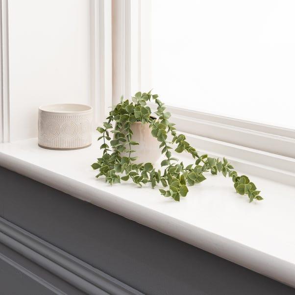Artificial Trailing Eucalyptus Green in Reactive Pot Green