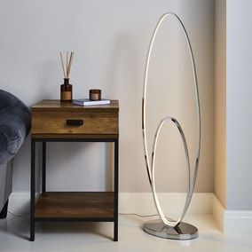 Menton Dimmable Integrated LED Chrome Floor Lamp