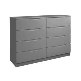 Legato Grey 8 Drawer Wide Chest