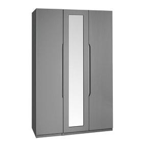 Legato Grey 3 Door Mirrored Wardrobe