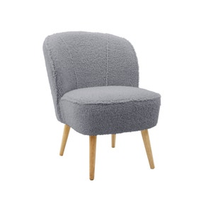 Teddy Bear Cocktail Chair - Grey