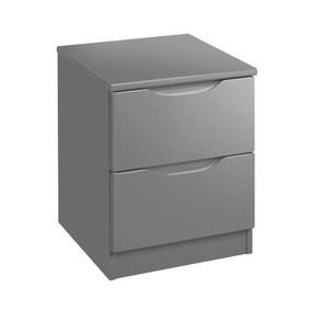 Legato Grey 2 Drawer Bedside