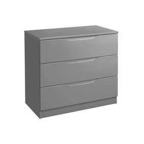 Legato Grey 3 Drawer Chest