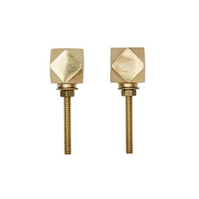 Geo Brass Set of 2 Door Knobs