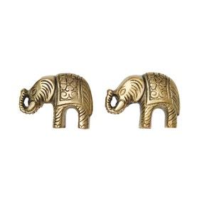 Elephant Set of 2 Door Knobs