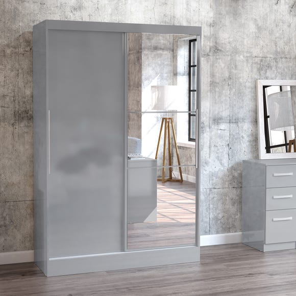 Lynx Grey Double Sliding Wardrobe