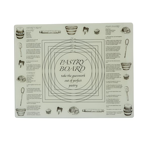 Life is What You Bake of It Glass Pastry Board Grey