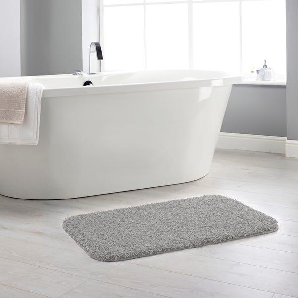Buddy Bath Antibacterial Ghost Grey Bath Mat