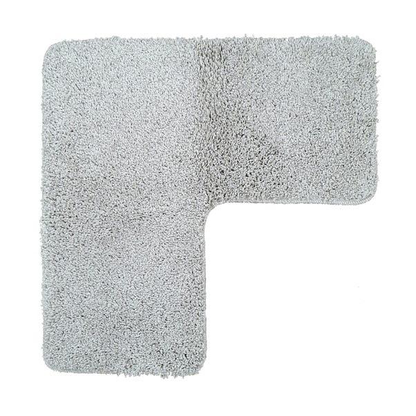 Buddy Bath Antibacterial Pavillion Grey L-Shaped Bath Mat