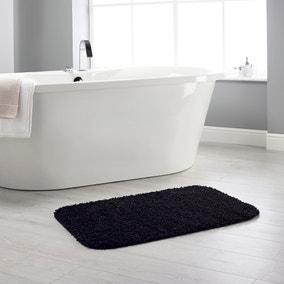 Buddy Bath Antibacterial Black Bath Mat