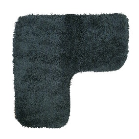 Buddy Bath Antibacterial Black L-Shaped Bath Mat