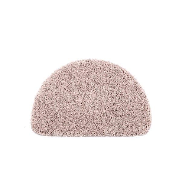Buddy Bath Antibacterial Nude Pink Half Moon Bath Mat