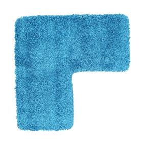 Buddy Bath Antibacterial Teal L-Shaped Bath Mat