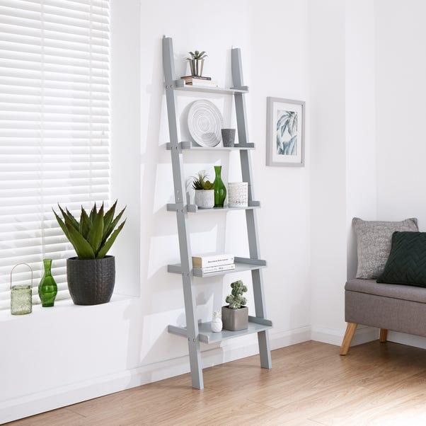 Large Ladder Shelving Unit Grey