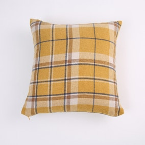 Hendrix Mustard Check Cushion