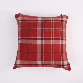 Hendrix Red Check Cushion