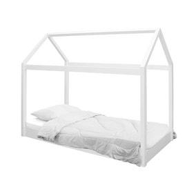 Hickory Single Bed Frame - White