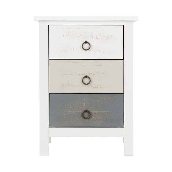 Vermount 3 Drawer Bedside Table White