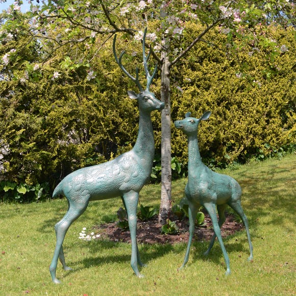 Deer Pair Garden Ornament