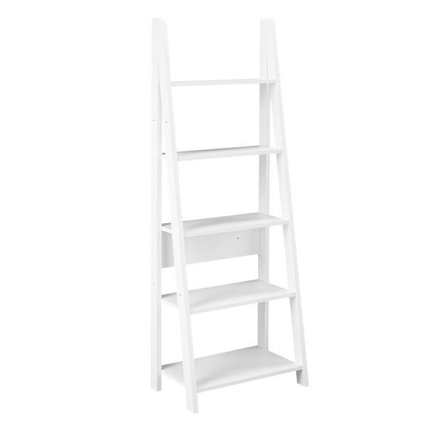 Tiva Ladder Bookcase White