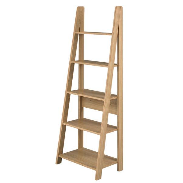 Tiva Ladder Bookcase Light Oak (Brown)