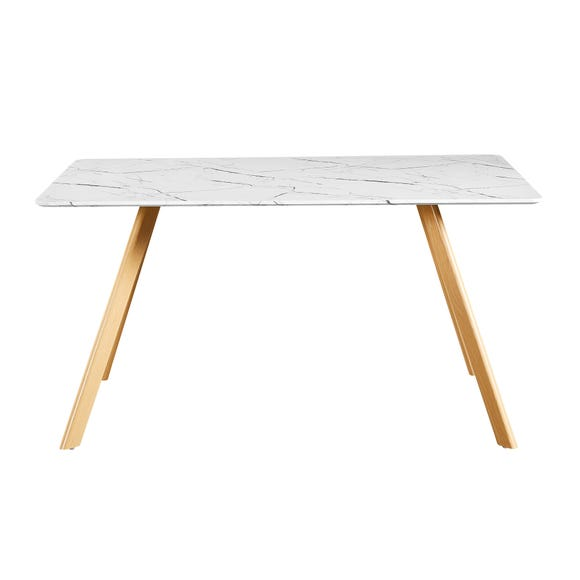 Venice Marble Effect Dining Table White
