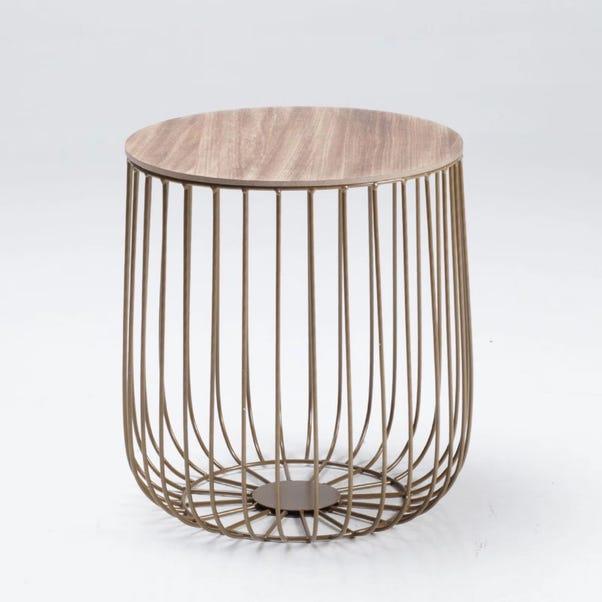 Enzo Oak Effect Side Table