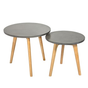 Hex Concrete Effect Nest of Tables