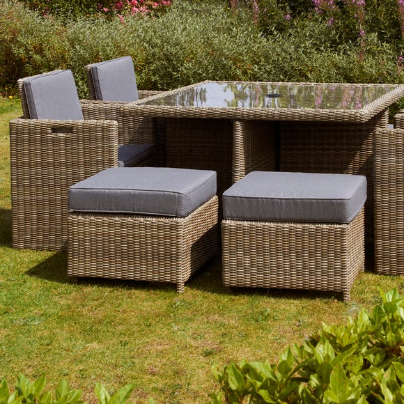 Wentwoth 8 Seater Cube Set Natural