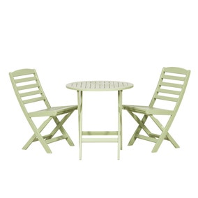 Porto 2 Seater Green Bistro Set