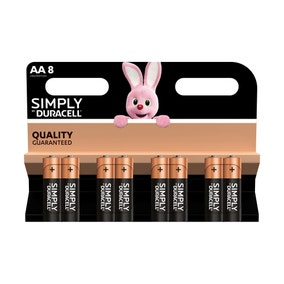 Duracell Simply Batteries Pack of 8 AA