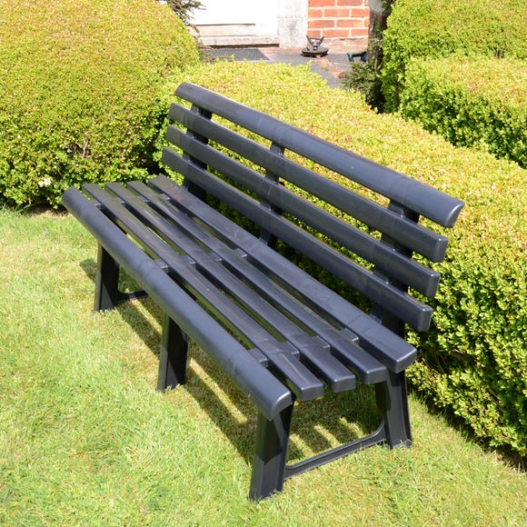 Brindisi Dark Grey Bench Dark Grey